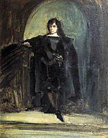 SelfPortrait as Ravenswood, 1821, delacroix