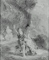 Spring Orpheus Coming to the Aid of Eurydice, delacroix