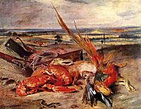 Still Life with Lobsters, 1827, delacroix