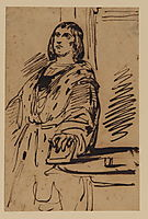 Study of a man in costume, delacroix
