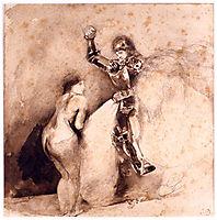 Study for Marphisa, 1850, delacroix