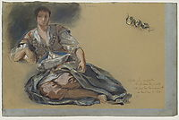 Study for the painting Women of Algiers, delacroix