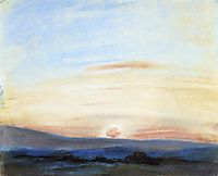 Study of Sky, Setting Sun, 1849, delacroix