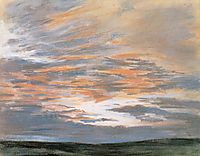 Study of the Sky at Sunset, 1849, delacroix