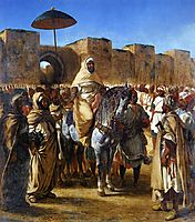The Sultan of Morocco and his Entourage, 1845, delacroix