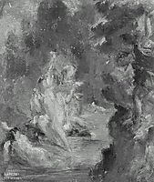 Summer Diana Surprised at her Bath by Actaeon, 1822, delacroix