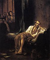 Tasso in the Madhouse, 1839, delacroix