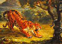 Tiger and Snake, 1862, delacroix