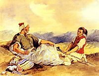 Two Moroccans Seated In The Countryside, 18, delacroix