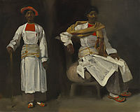 Two Views of an Indian from Calcutta, Seated and Standing, 1824, delacroix