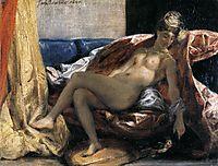 Woman with a Parrot, 1827, delacroix