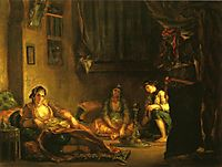 Women of Algiers in Their Apartment, 1849, delacroix