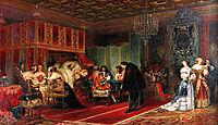 Cardinal Mazarin Dying, 1830, delaroche