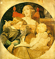 A Family Scene, 1844-1847, delaroche