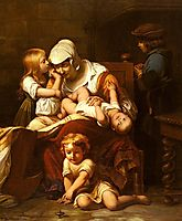 Young Mother and Her Children, 18, delaroche