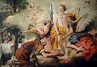 Abraham and the Three Angels, domenicotiepolo