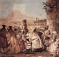 The barker, 1757, domenicotiepolo