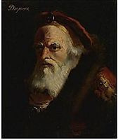 The head of an old man, inscribed Diogenes, domenicotiepolo