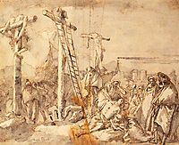 Lamentation at the Foot of the Cross, 1760, domenicotiepolo