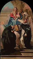 Madonna and Child with Three Saints, c.1762, domenicotiepolo