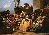 The Minuet or Carnival Scene, 1755, domenicotiepolo