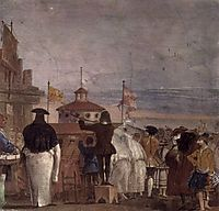 The New World, from the -Foresteria- (Guesthouse), 1757, domenicotiepolo