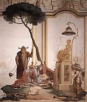Offering of Fruits to Moon Goddess, domenicotiepolo