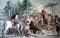 Preaching of John the Baptist, domenicotiepolo