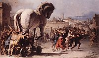 The Procession of the Trojan Horse in Troy, 1773, domenicotiepolo