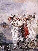 Pulcinella in Love, c.1793, domenicotiepolo