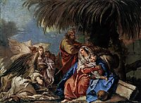 The Rest on the Flight to Egypt, domenicotiepolo