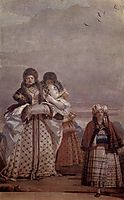 The Winter Walk, from the Room of the Gothic Pavilion, in the Foresteria, 1757, domenicotiepolo