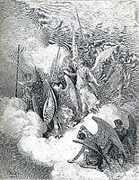 Abdiel and Satan, c.1868, dore