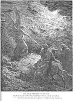 An Angel Appears to Balaam, dore