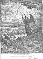 An Angel Appears to the Israelites, dore