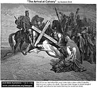 The Arrival At Calvary, dore