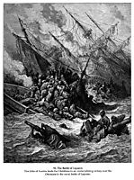 Battle of Lepanto in 1571, 1877, dore