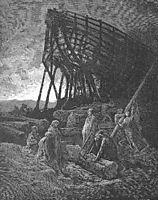Began to build a vessel of huge bulk, dore