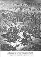 Combat between Soldiers of Ish-bosheth and David, dore