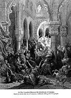 The Crusaders massacre the inhabitants of Caesarea, 1877, dore