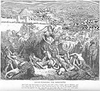 David Attacks the Ammonites, dore