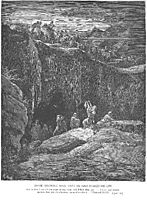 David Shows Saul How He Spared His Life, dore