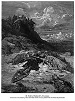 Death of Frederick I of Germany, dore