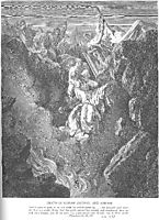 The Death of Korah, Dathan, and Abiram, dore