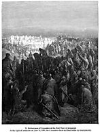 Enthusiasm of Crusaders at the First View of Jerusalem, dore