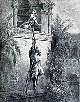 The Escape of David through the Window, 1866, dore