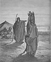 Expulsion of Ishmael and His Mother, dore