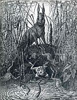 The Hare and the Frogs, c.1868, dore