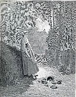 Illustration for The Milkmaid and the Milk Can, dore