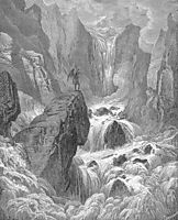 In with the river sunk, and with it rose Satan, dore